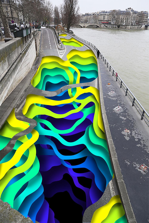 Stream la fresque de 1010 sur les quais de Seine